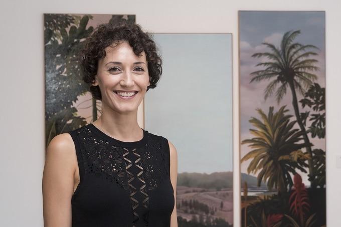 Gabriela Bettini, durante la recepción del Premio Internacional Obra Abierta 2017. Foto: David Palma