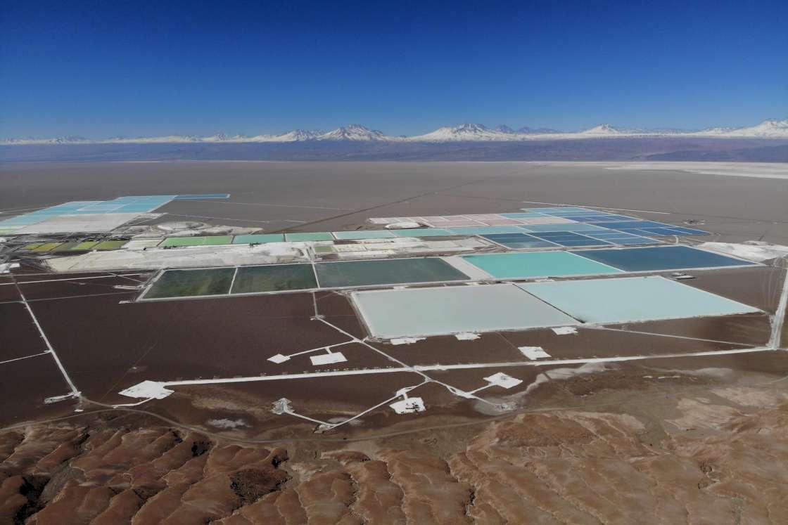 Explotaciones de litio en el desierto de Atacama