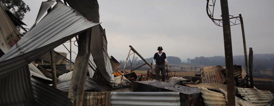 Los incendios han arrasado la granja de los Wright