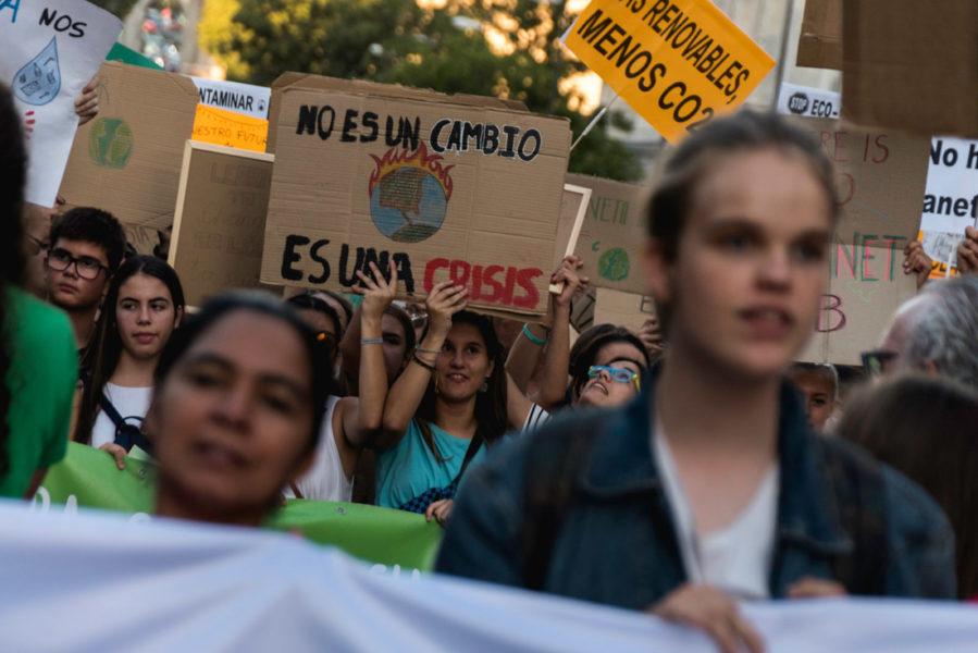 Manifestación por el clima en Madrid. EDUARDO ROBAINA